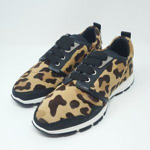 Dsquared2 🐆Leopard Print🐆 Leather Sneakers